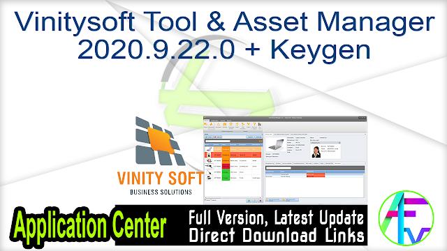 Vinitysoft Tool & Asset Manager 2020.9.22.0 + Keygen