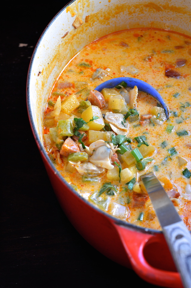 Spicy Chorizo Clam Chowder