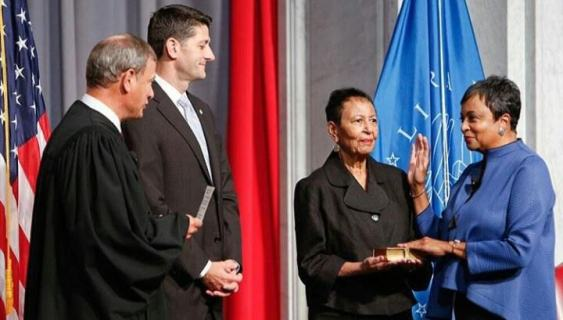 Carla Hayden officially sworn in as the first African American & female to become Librarian of Congress