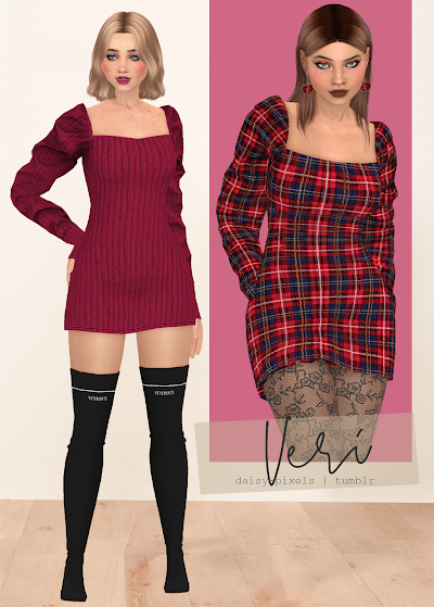 - ̗̀ Veri Dress (+ Lace Tights) ̖́- (TS4)