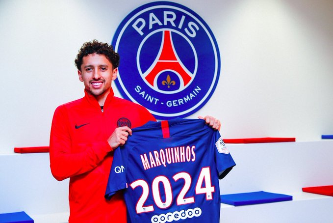 OFFICIAL: PSG Defender Marquinhos Signs New Contract Until 2024