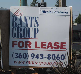 Commercial real estate sign for The Rants Group