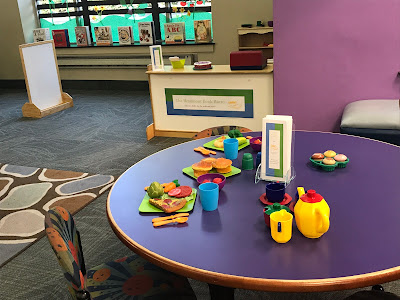 Restaurant Dramatic Play Center, dramatic play at the library