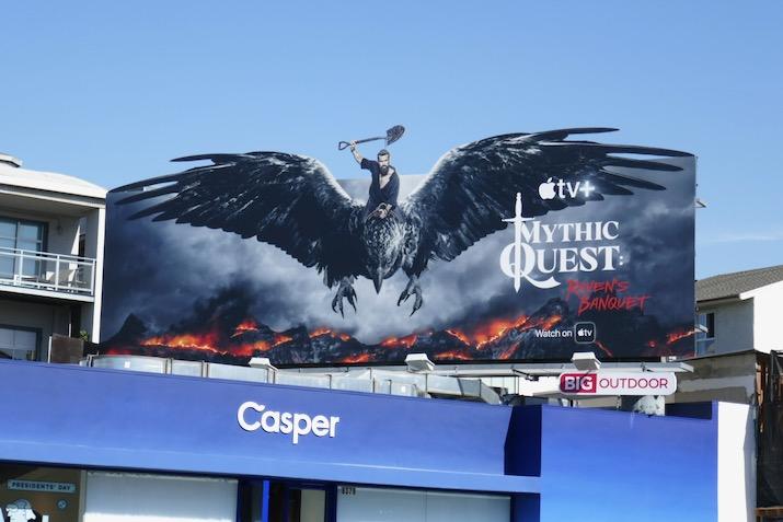 Mythic Quest Ravens Banquet Apple TV billboard