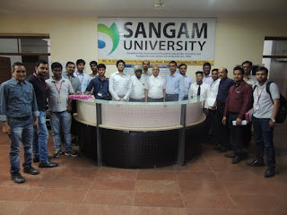 Campus placement Drive by SynapseIndia was conducted in Sangam University