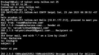 Email Spoofing Menggunakan Telnet di Linux