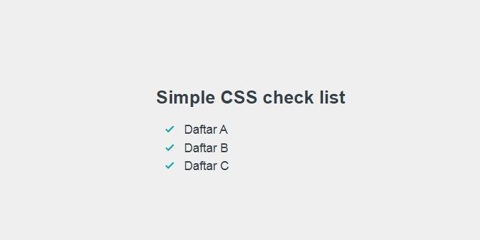 Memasang Check List Style Artikel Blog Dengan CSS