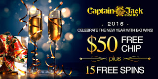 Captain Jack $50 Free Chip & 15 Free Spins