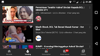 Berita BCL dan Almarhum Ashraf Masih Trending Terus