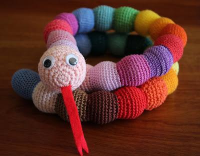Szydełkowy wąż