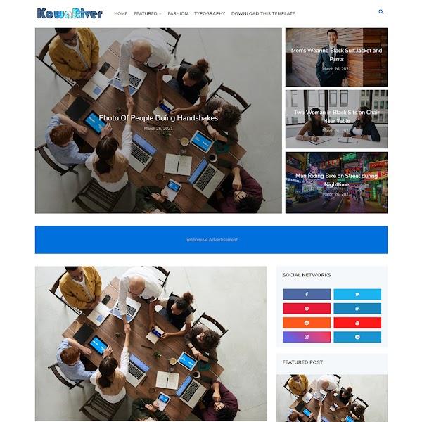 KowaRiver - Business & Corporate Responsive Blogger Template