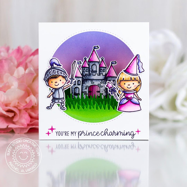 Sunny Studio Stamps: Enchanted Spring Scenes Fairy Tale Themed Card by Rachel Alvarado