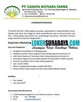 Loker Surabaya di PT. Cahaya Mutiara Farma Juli 2020