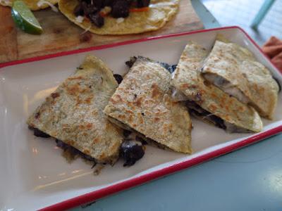 Super Loco, huitlacoche quesadillas