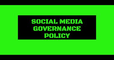 Social media governance policy