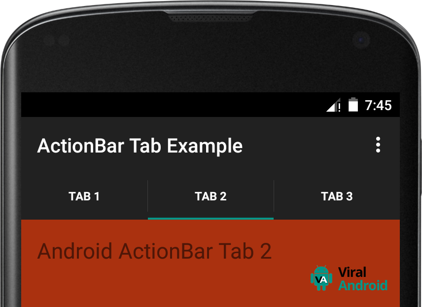 Android ActionBar Tabs Example | Viral Android – Tutorials