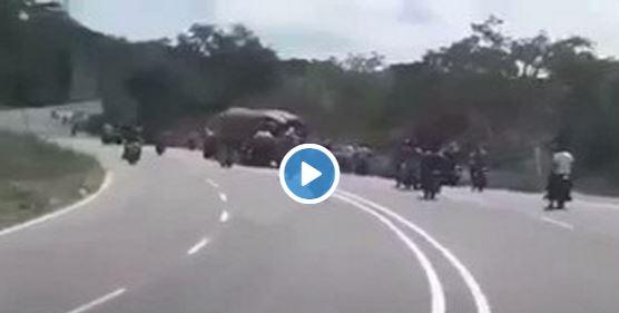Colectivos motorizados del PSUV saquean gandola en Lara-Zulia