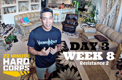 Day 3 Week Eight 22 Minute Hard Corps Challenge, 22 Minute Hard Corps Resistance 2, Beachbody OCR Fit, Beachbody Workouts for Obstacle  Course Racing, Obstacle Race Training with Beachbody