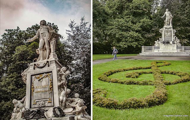 Monumento a Mozart em Viena, Áustria