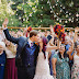 Colorful wedding at Pine Rose Cabins in Lake Arrowhead