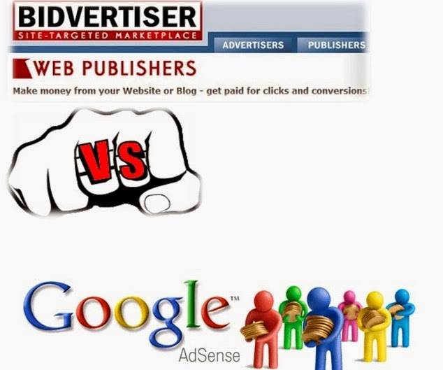 BidVertiser Vs Google Adsense
