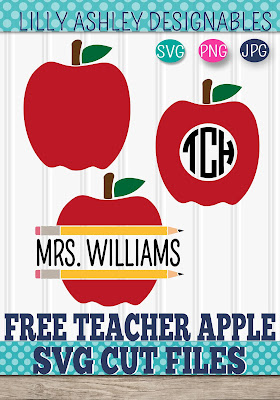 free teacher svg apple svg fall svg lilly ashley designables
