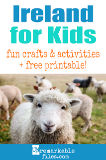 Learning about Ireland is fun and hands-on with these free crafts, ideas, and activities for kids! #Ireland #Irish #educational