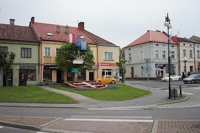 Leżajsk rynek herb miasta