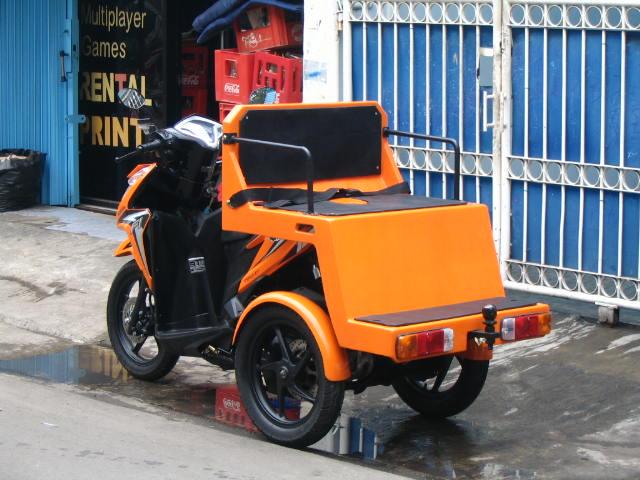 modifikasi motor roda 3 terbaru