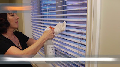 Cleaning windows and shades