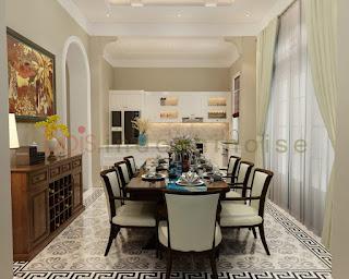 Nội thất phòng ăn phong cách indochine