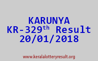 KARUNYA Lottery KR 329 Results 20-01-2018