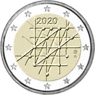2€ kolikko Turku 2020