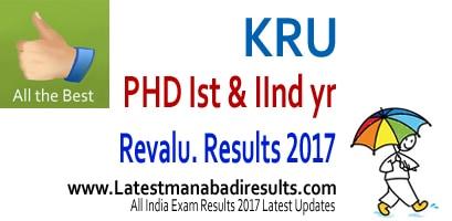 Krishna University PHD 1st & 2nd year August 2016 Results, Krishna University Results Manabadi