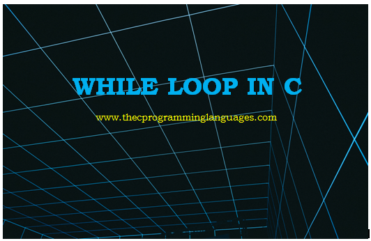 While loop in C