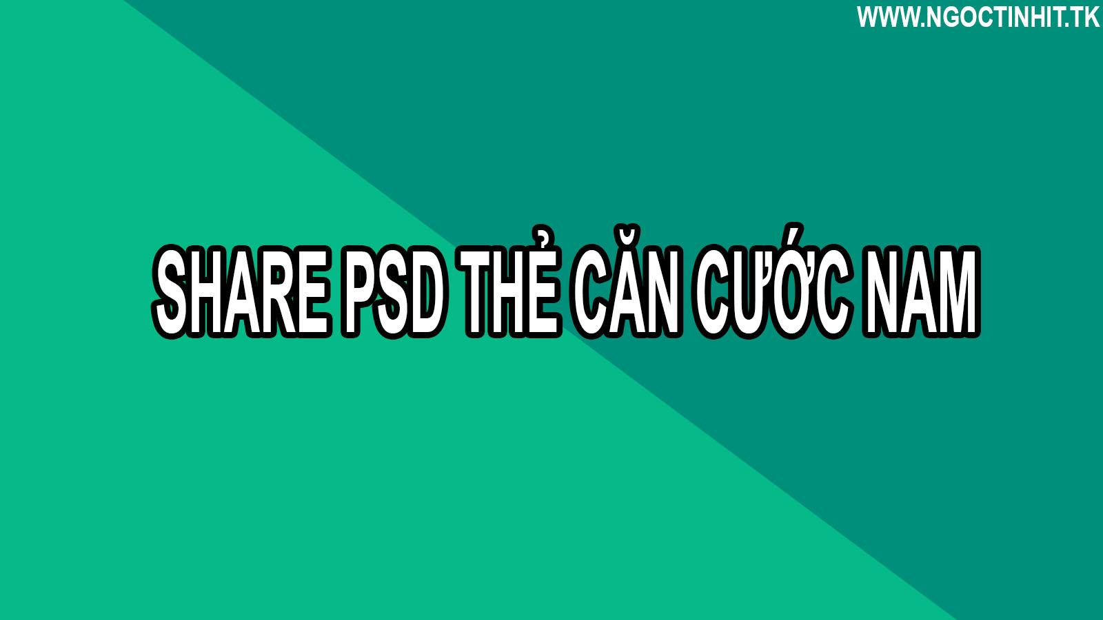 Share PSD Thẻ Căn Cước Nam