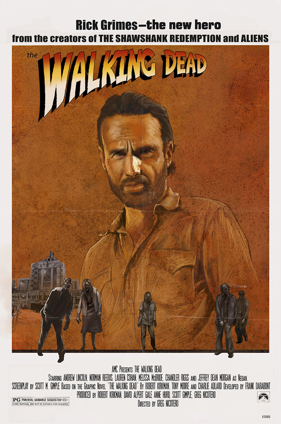 Klassische Filmplakate im The Walking Dead Design
