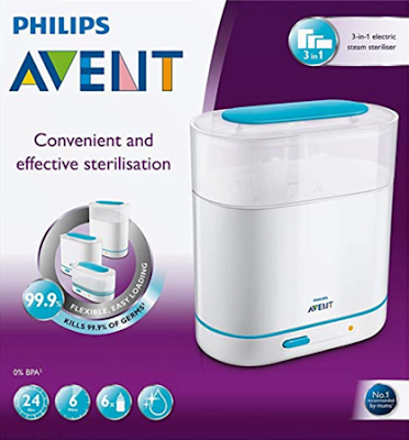 Philips Avent 3-In-1 Electric Steam Sterilizer to Protect Your Baby From Harmful Germs