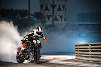 KTM SuperDuke Burnout Powerslide