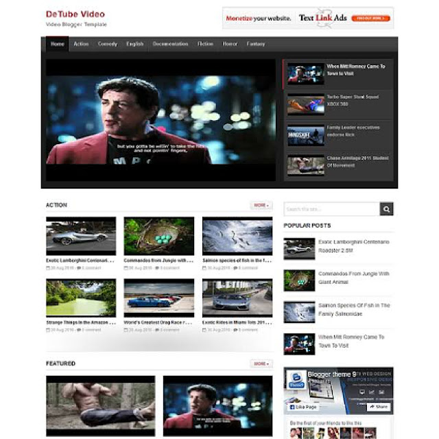 detube blogger template image