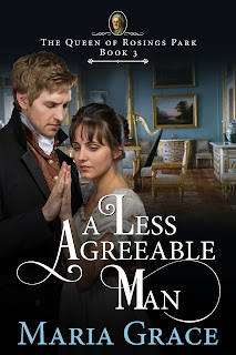 Book cover: A Less Agreeable Man by Maria Grace