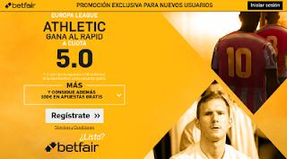 betfair supercuota 5 Athletic gana Rapid de Viena Europa League 29 septiembre