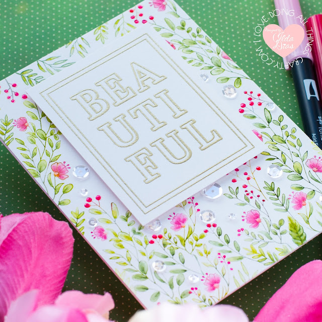Bold Beautiful Floral Card | Spellbinders FSJ Stamp of the Month | April 2020