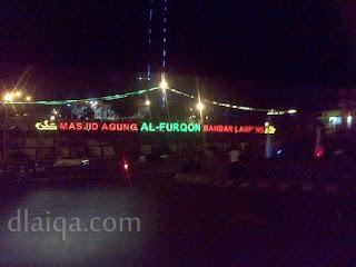 sampai di sekitar Masjid Al-Furqon, Bandar Lampung