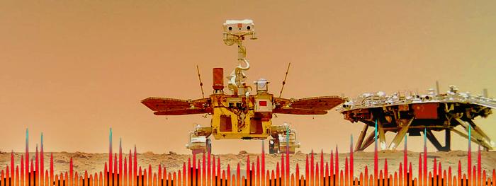 audio gravado em marte - sons em marte - rover zhurong da china
