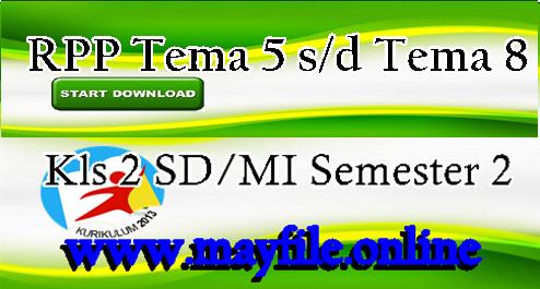 Download RPP Kelas 2 Tema 5-6-7-8 Semester 2