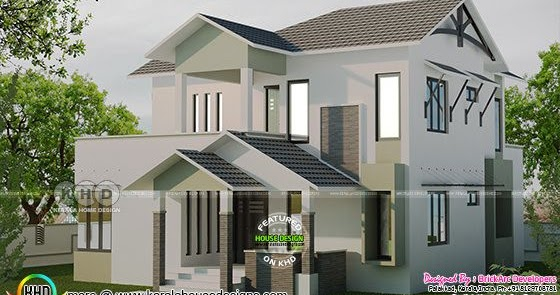 2009 square feet 4 bedroom house kerala home design and for Home designs 2009