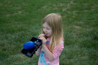 Experiment with air power and a balloon boat