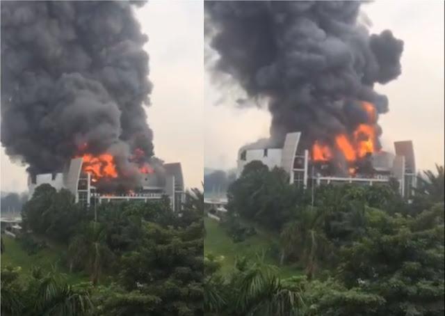Detik-detik Gereja Christ Cathedral Serpong Terbakar Hebat