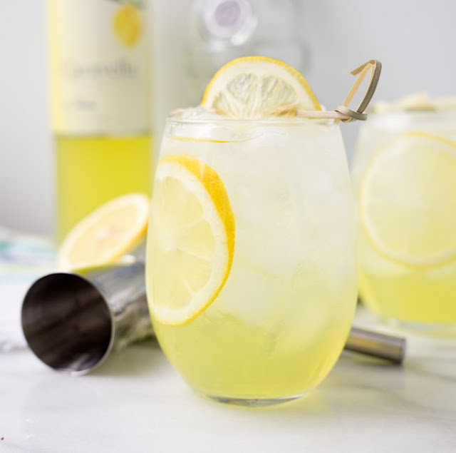Limoncello Vodka Cooler #cocktails #summer